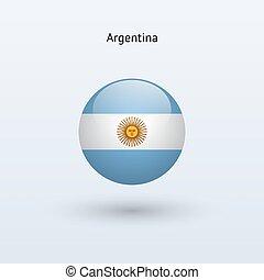 Argentina round flag. Vector illustration.