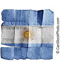 Argentina sign on old paper