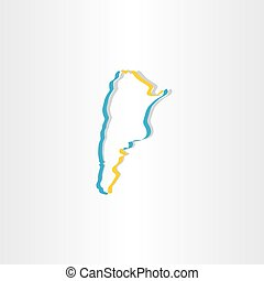 argentina stylized map vector icon
