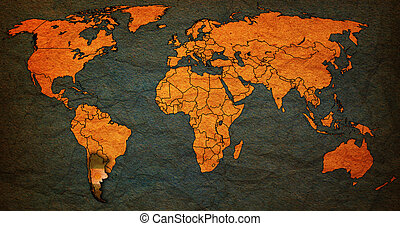argentina territory on world map