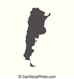 Argentina vector map. Black icon on white background.