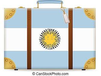 argentina, viaggiare, bandiera, valigia