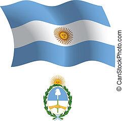argentina wavy flag and coat