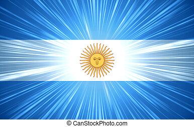 argentinare, flagga, med, dager rocka
