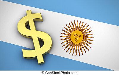argentine, économie, concept
