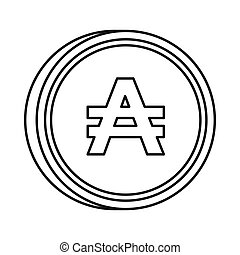 Argentine austral sign icon, outline style