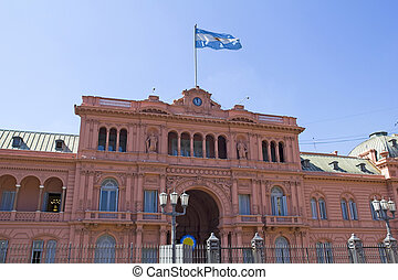Argentine Government House, also called Casa Rosada by...