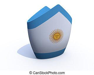 Argentine Pope hat 3d illustration
