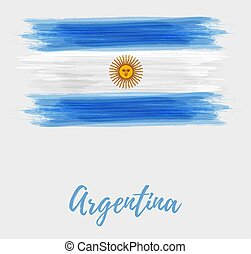 Argentine Republic abstract watercolored flag - Argentine ...