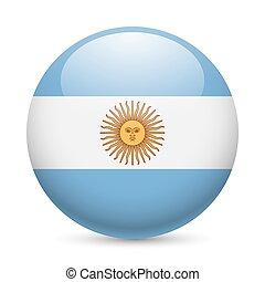 argentine, rond, lustré, icône