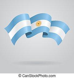 Argentine waving Flag. Vector illustration