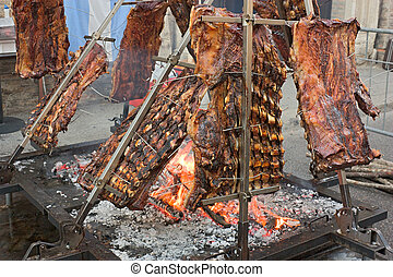argentinian asado - An asado is a roasted meat of beef or...