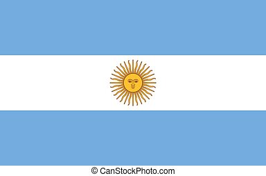 Argentinian flag, flat layout, vector illustration