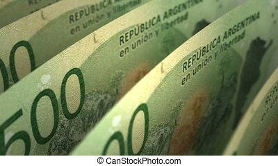 Argentinian Pesos Close-up (seamless)