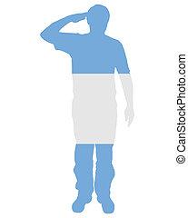 Argentinian salute