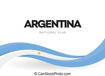 Argentinian waving flag banner. Argentina patriotic blue and...