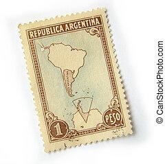 argentinien, briefmarke