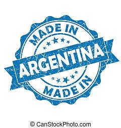 argentinien, gemacht, grunge, siegel