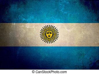argentinien, grunge, fahne
