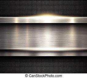 argento, fondo, metallico