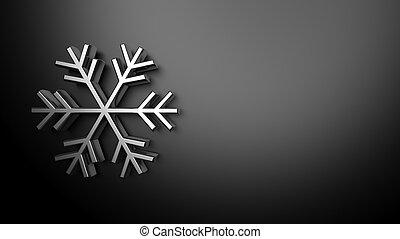 argento, fondo, tempo, Previsione, fiocco di neve,  3D