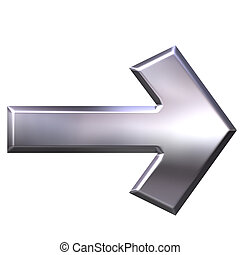 argento, freccia, 3d