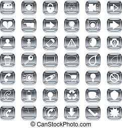 argento, icone