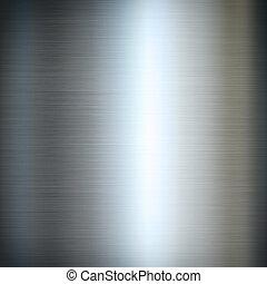 argento, metallo spazzolato, fondo, struttura