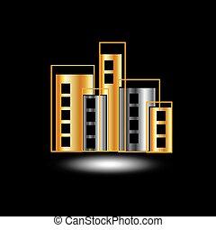 argento, oro, grattacieli