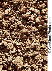 argila, vermelho, agricultura, textured, solo