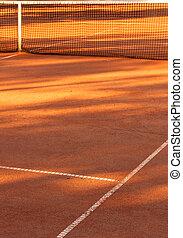 argile, court tennis