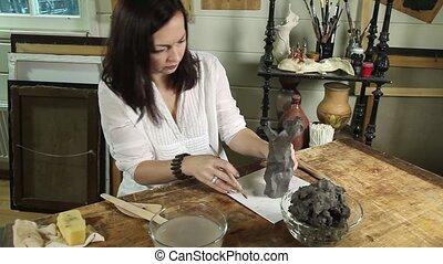 argile, fonctionnement, sculpteur