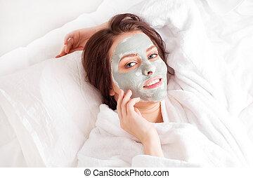 argilla, maschera