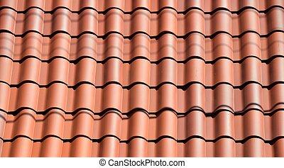 argilla rossa, mattonelle tetto