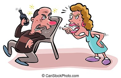 argues, アルコール中毒患者, 夫婦