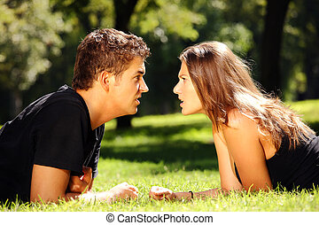Argument of young couple