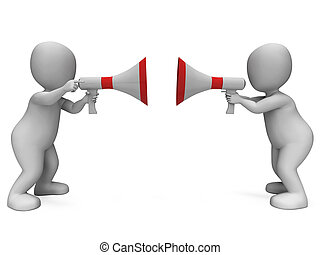 argumentar, discussão, desacordo, caráteres, mostra, ou,...