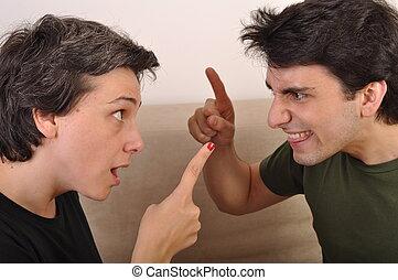 argumentar, irmã, irmão