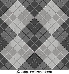 argyle, conception, gris