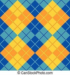 Argyle Design in Blue and Yellow