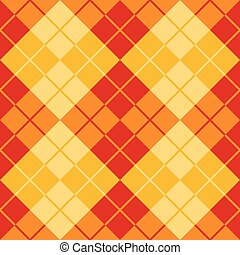 Argyle Design in Red and Yellow