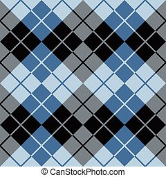 Argyle Design_Blue