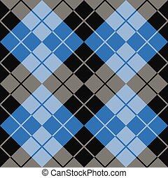Argyle in Black and Blue