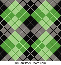 Argyle in Black and Green