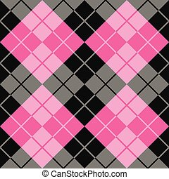 Argyle in Black and Pink