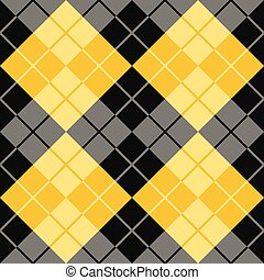 Argyle in Black and Yellow