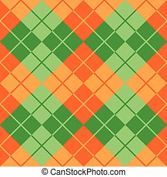Argyle in Green and Orange