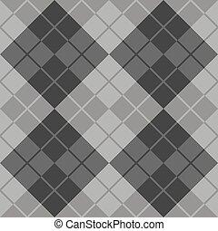 Argyle in Grey