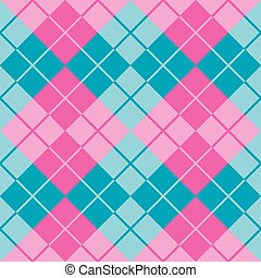 Argyle in Pink and Blue