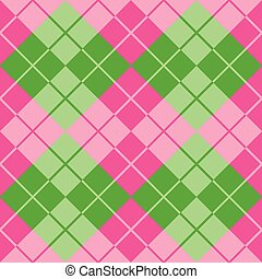 Argyle in Pink and Green